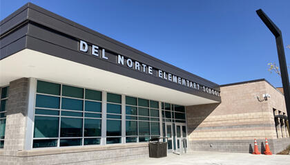 Picture of a Del Norte school building