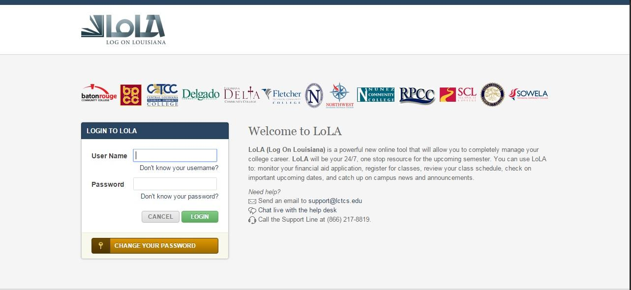 Log in to Lola