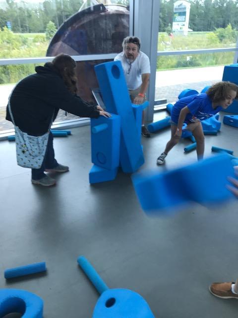 More fun with blue foam blocks