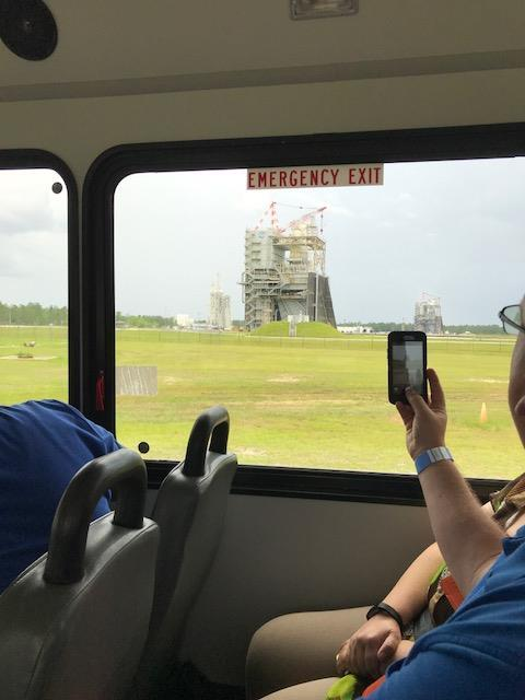Closer view of shuttle launch pad
