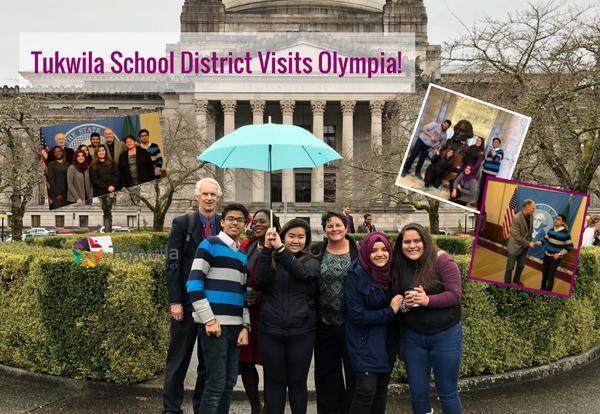 Tukwila School District Students visit Olympia