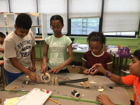 Students build Rube Goldberg machines