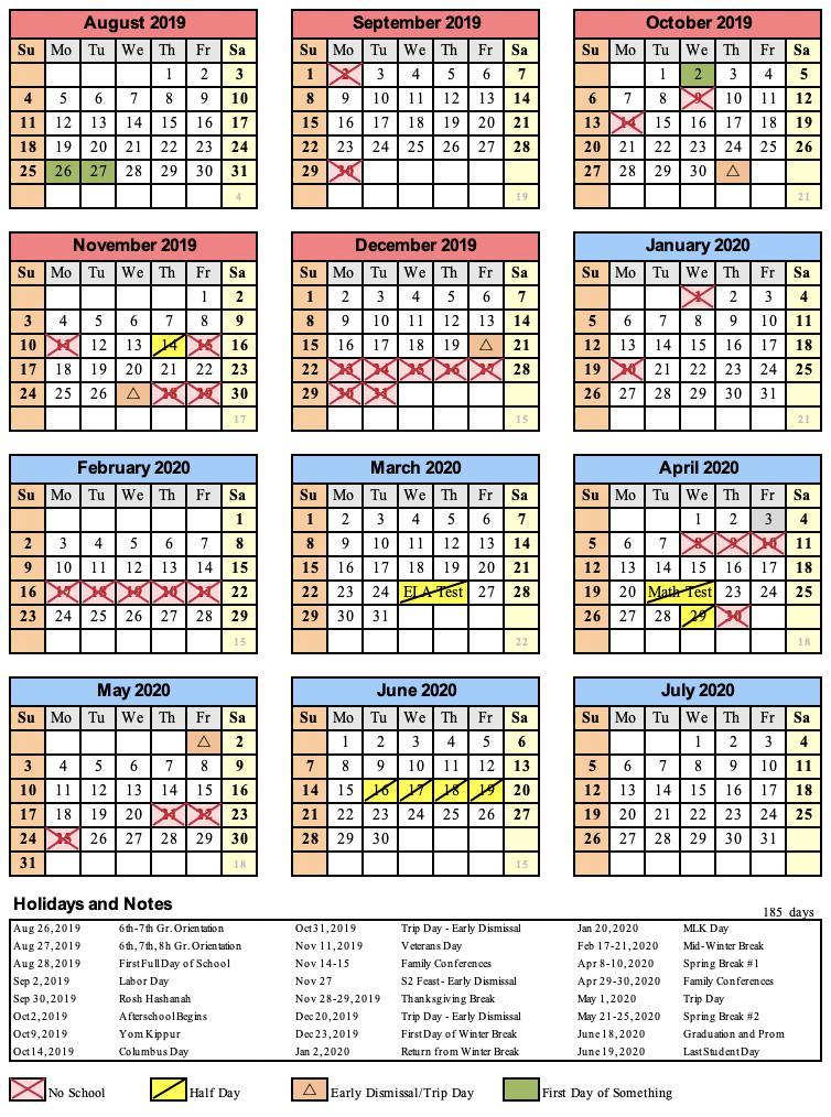 academic-year-calendar-20172018 | Families