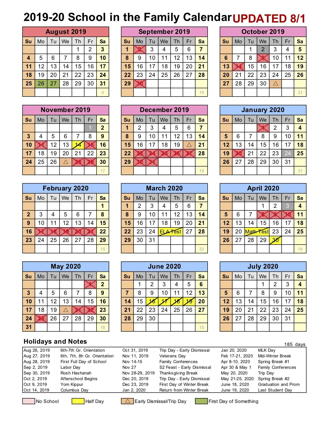 stony brook spring 2020 calendar