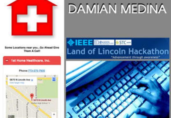 Damian Medina IEEE Hackathon Winner, Again!