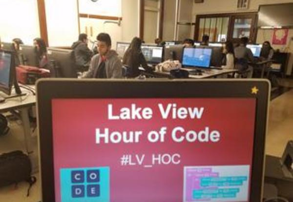 Tyrese Graham, STEM AP, on Hour of Code at LVHS