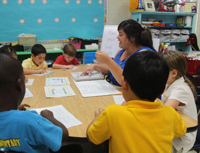 Students at Sudduth Elementary enjoy small group learning with their teacher