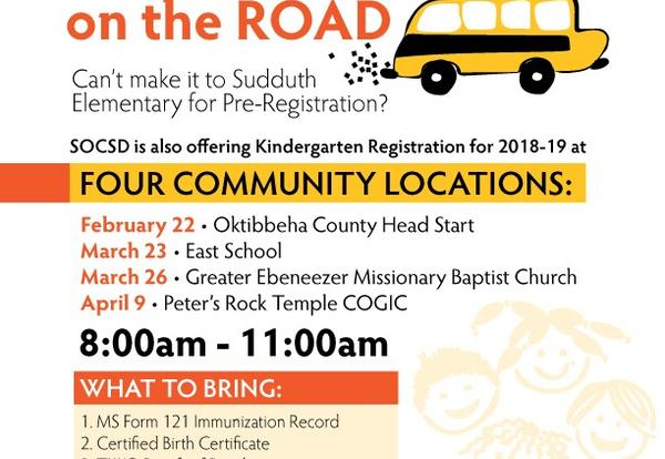 SOCSD Announces Registration on the Road Events for Kindergarten Enrollment