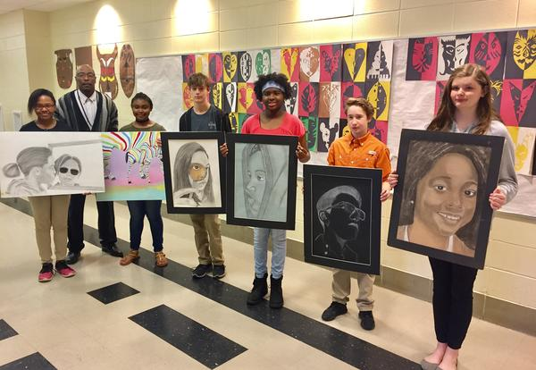 AMS and SHS Students Go for Gold in MS Scholastic Art and Writing Awards
