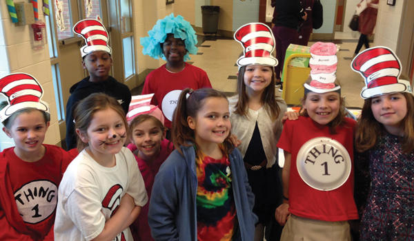 HWS students celebrate Dr. Suess day