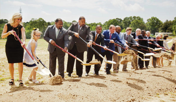 Partnership School groundbreaking ceremony
