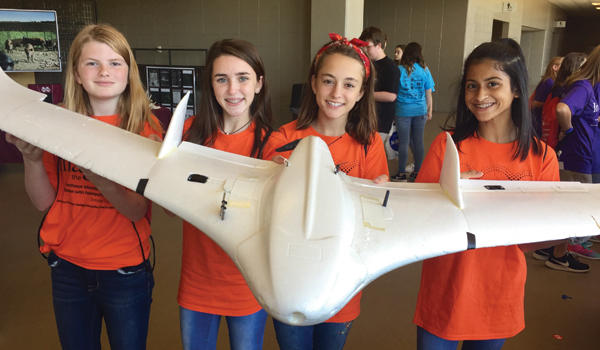 AMS students learn about drones at career expo