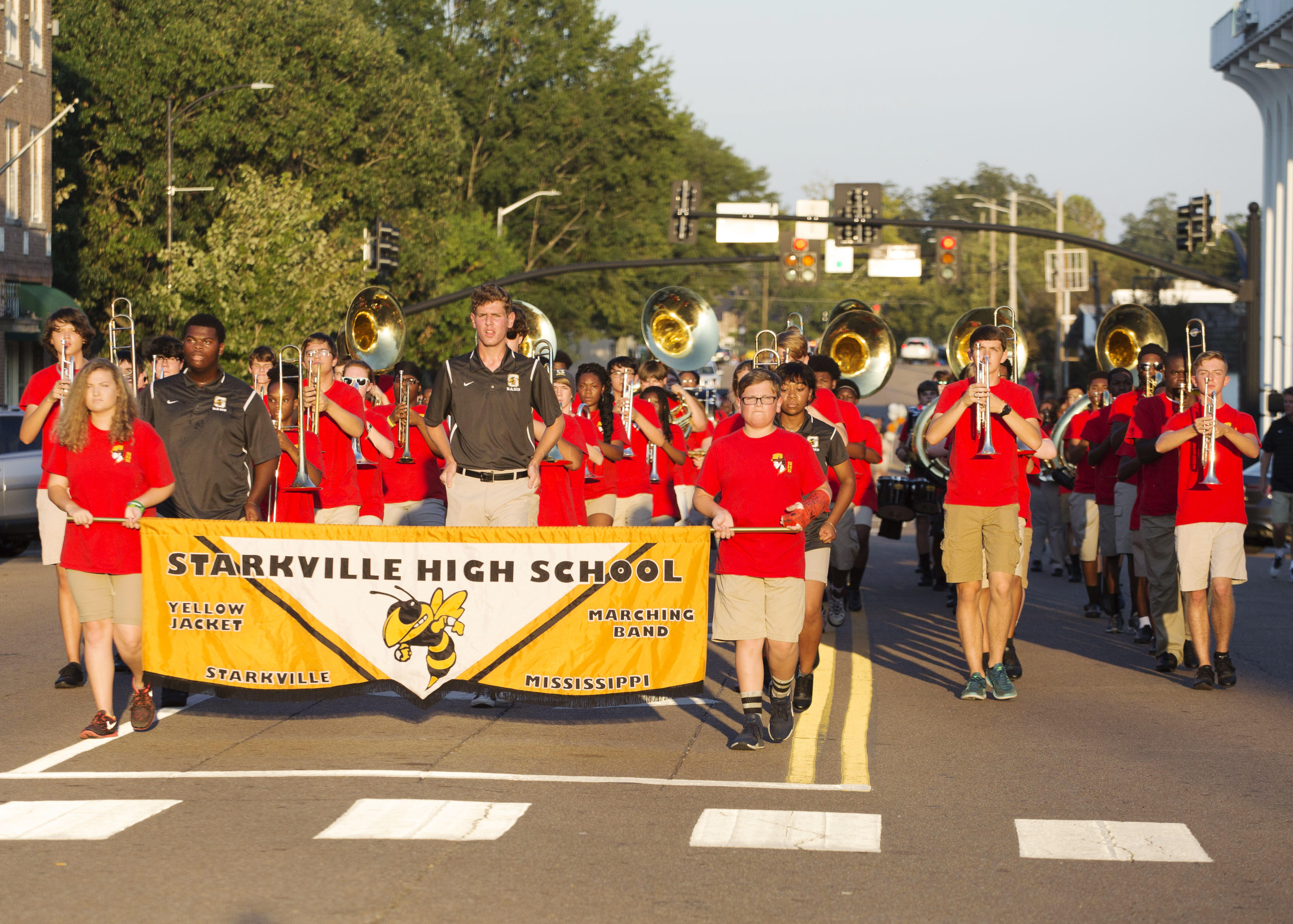 SHS Band marches in Homecoming Parade