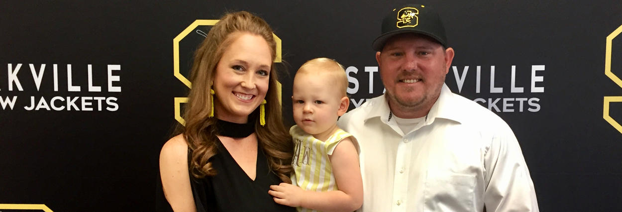 Welcome Coach Luke Adkins and family to #JacketNation!