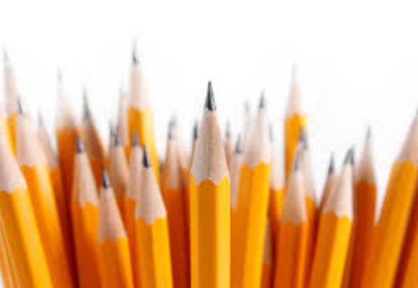 Decorative image of pencils for school supply list