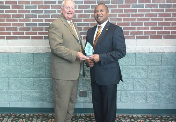 MSU College of Education Dean Richard Blackbourn and SOCSD Supt. Eddie Peasant