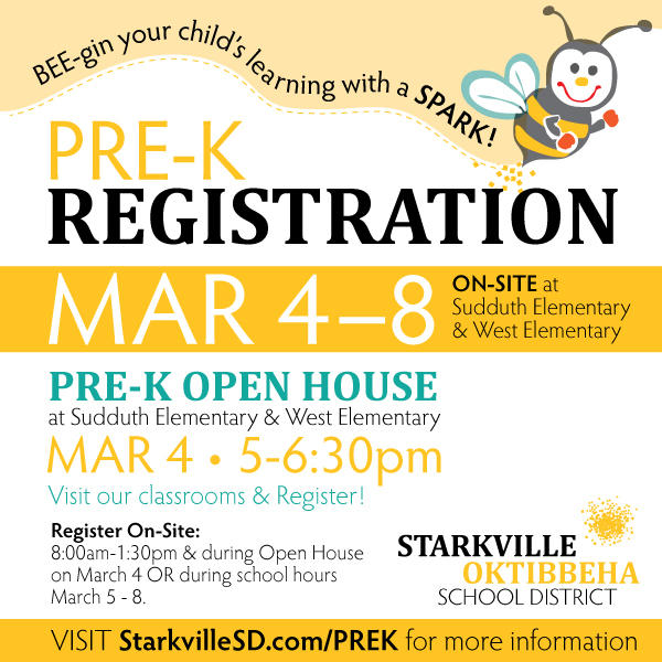 2019 PreK Registration Open March 4-8 / PreK Open House on March 4