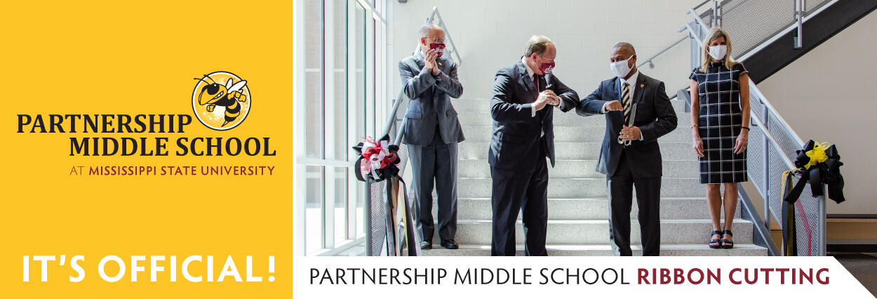 Partnership Middle School celebrates Ribbon Cutting. Click to read more.