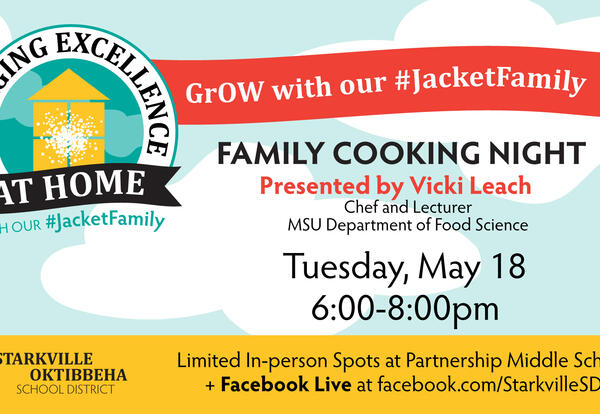 GrOW with Your Jacket Family:  Family Cooking Night Shopping List