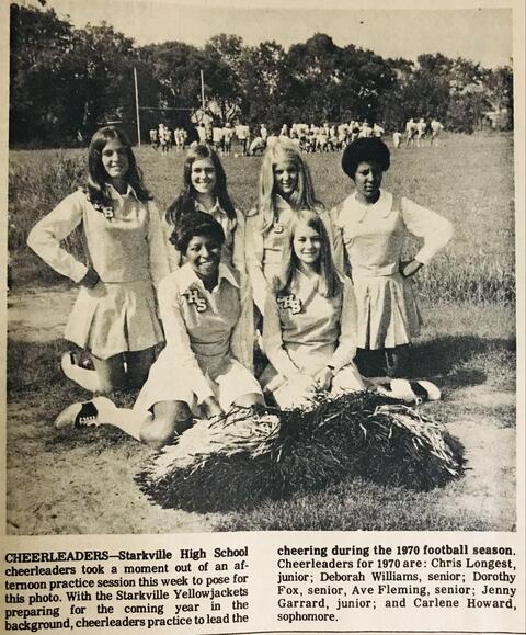 Starkville High School Cheerleaders 1970 Football Season