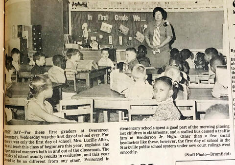 First Graders on First Day of School 1970