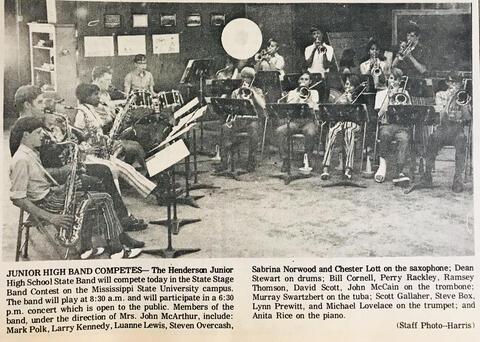 Henderson Junior High School Band