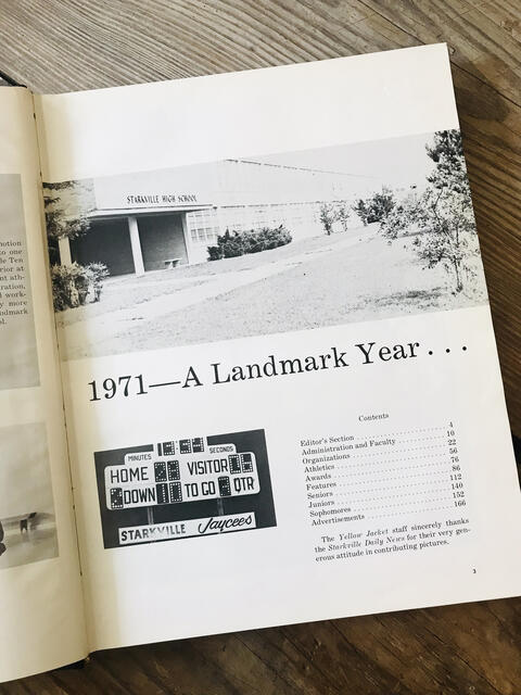 1971 - A Landmark Year Yearbook Page