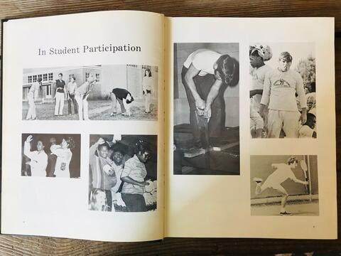Student Participation 1971 Yearbook Spread