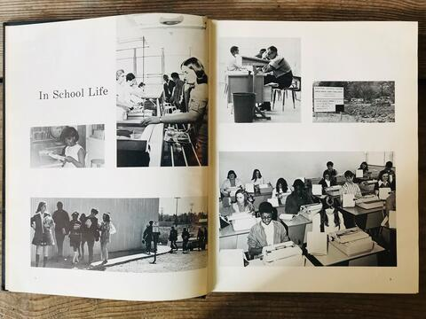 School Life 1971 Yearbook Spread