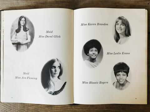 1971 Yearbook Homecoming Court spread
