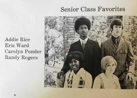 SHS Class of 1971 Senior Class Favorites