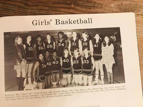 1970-1971 SHS Girls Basketball Team