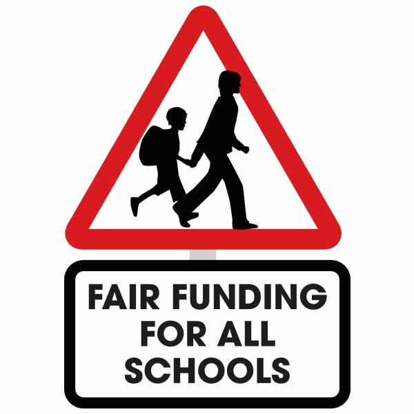 Fair Funding for all Schools road sign image