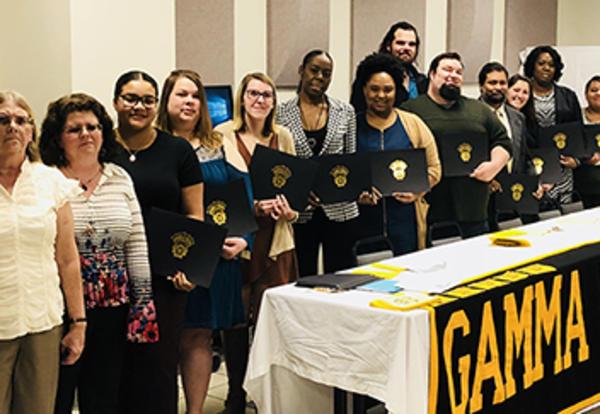 Gamma Beta Phi Inductees
