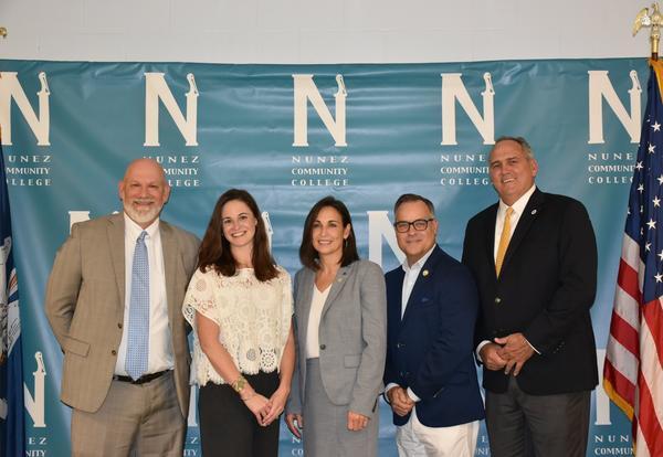 Nunez Coastal Studies and GIS Technology Program Unveiling Delegation