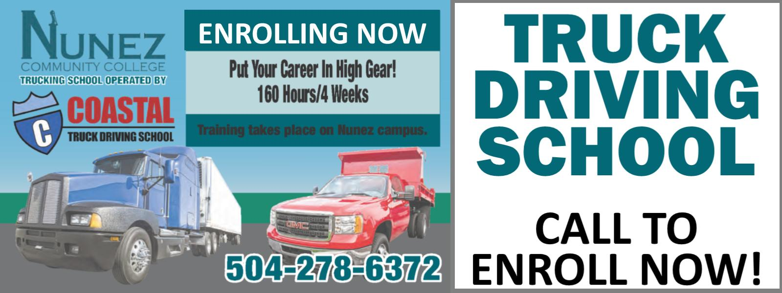 Nunez Now Offering Truck Driver Training - Click Here For More Information