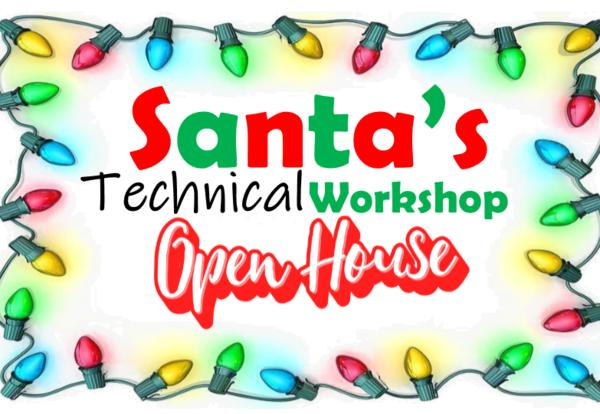 Santa's Technical Workshop Open House Logo