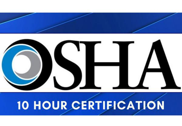 OSHA 10 Hour Certification Logo