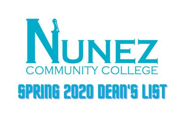 Nunez Spring 2020 Dean's List Logo