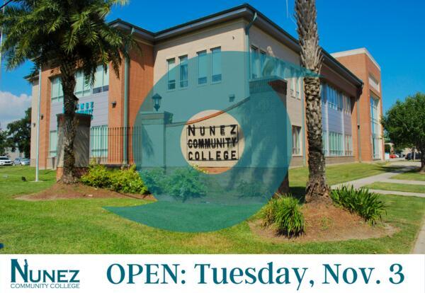 Nunez Open: Tuesday, November 3rd