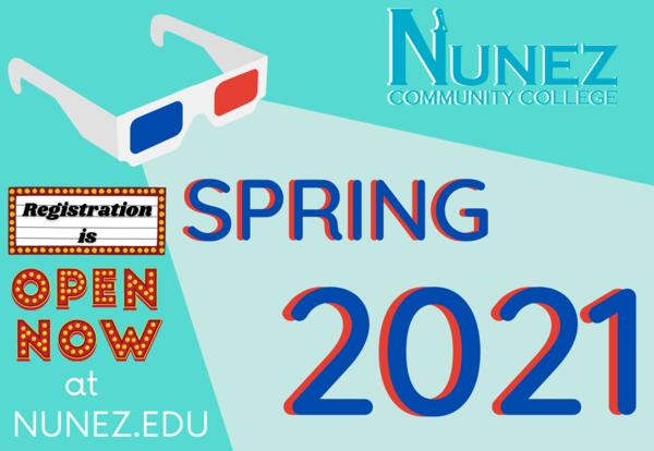 Spring 2021 Registration is Now Open