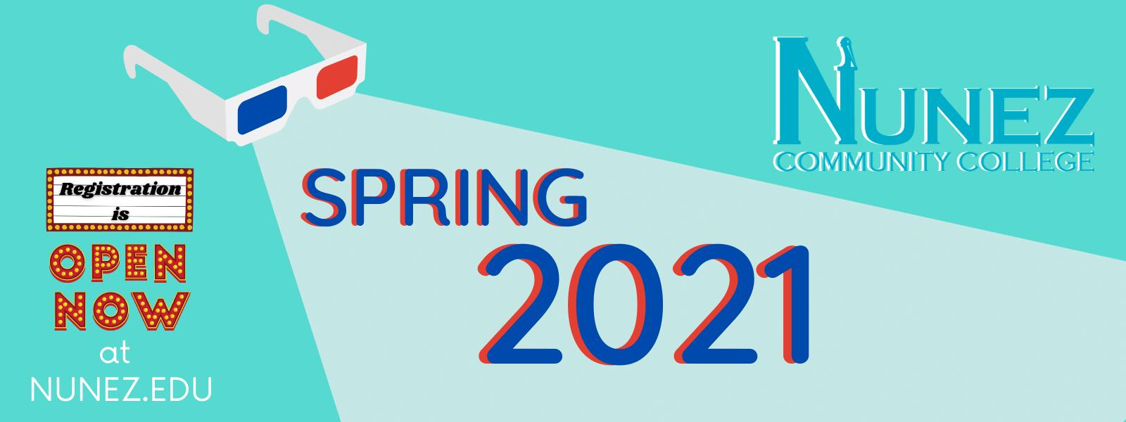 Spring 2021 Registration Open - Click Here for more Information