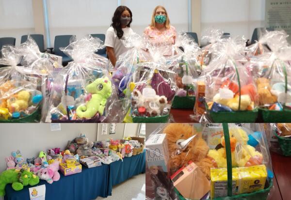Nunez Gamma Beta Phi Honor Society Donating Easter Baskets