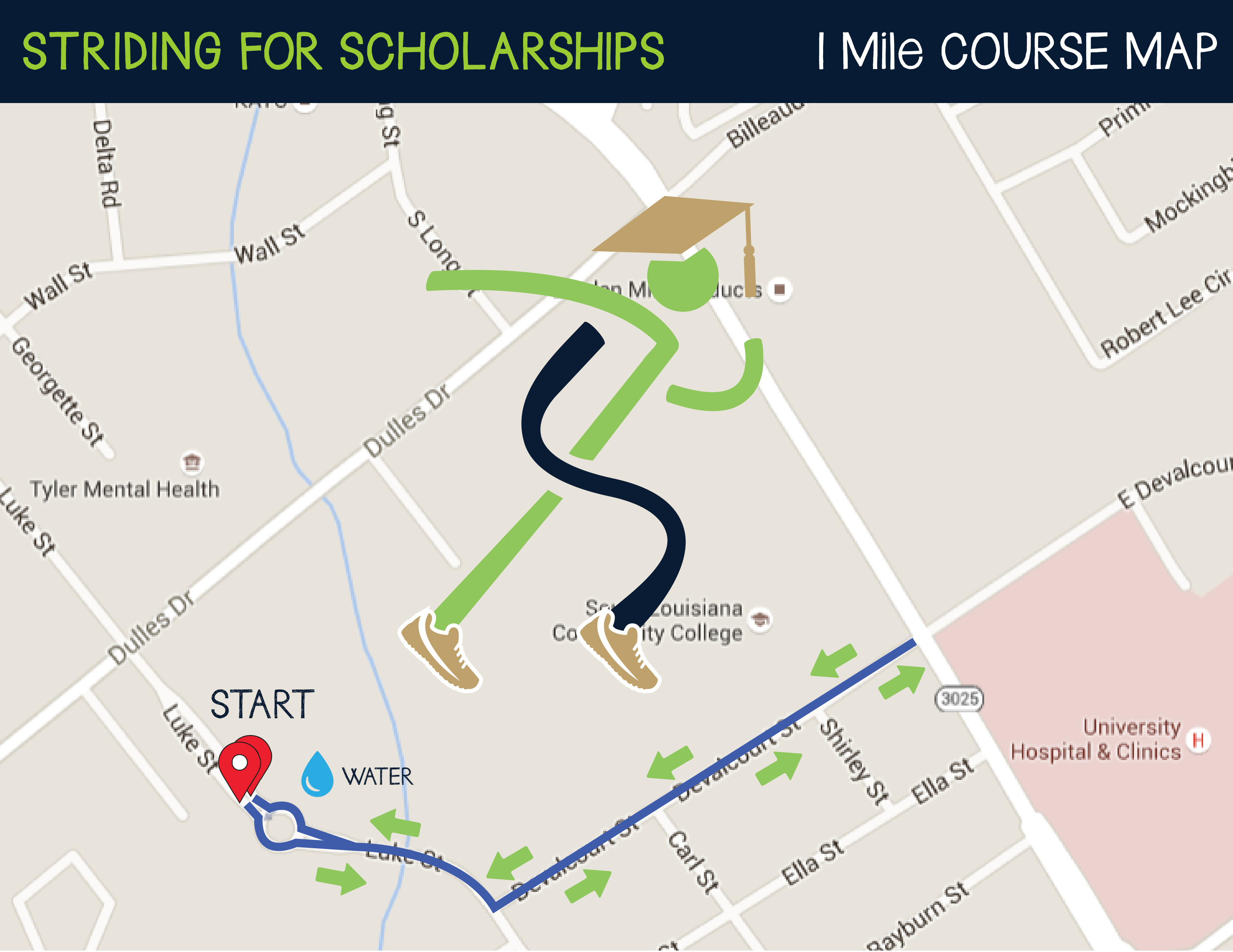 University Of Louisiana At Lafayette Campus Map.Striding For Scholarships 5k Slcc Foundation