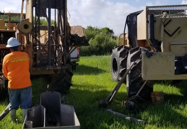 Crews work on Industrial Park Soil Boring at Port of West St. Mary