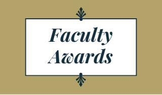 Faculty Awards placard image with flourish