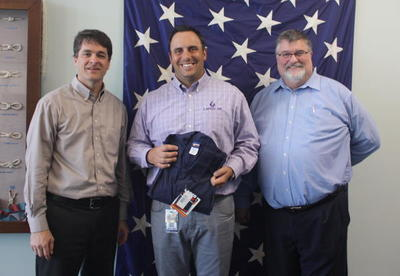 LAPCO representative donated coveralls to SLCC Maritime program
