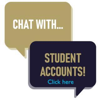 Student Accounts chat Bubble