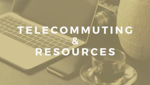 Telecommuting and Resources graphic