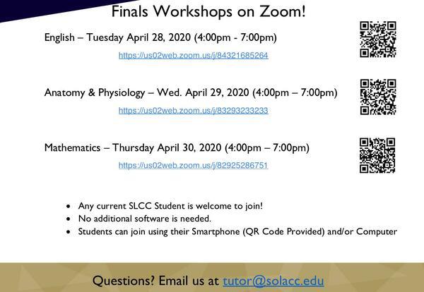Academic Success Center Offering Free Final Exam Workshops